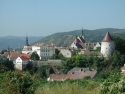 Blick von Osten auf die Altstadt von Krems
