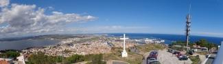 Sète - panorama vu de Saint-Clair - au loin, Frontignan