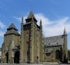 Façade occidentale et flanc sud de la nef de la cathédrale Saint-Étienne de Saint-Brieuc