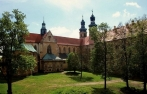 View of the former monastery of Lubiąż an the baroque Loreto-Chapel