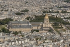 West face of Les Invalides from the Eiffel Tower in Paris