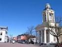 Rådhuspladsen med St. Nikolaj-kirken/Town hall square with St. Nicholas church