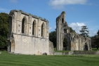 Glastonbury Abbey, ruines of the crossing and nave