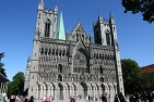 Front of the Nidaros Cathedral in Trondheim