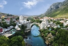 Mostar - panorama of the old town