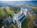 Aerial view of Abbaye de Jumièges ruin