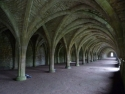 Vaulted cellarium at Fountains Abbey