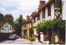 Chilham, picturesque street with mediaeval half-timbered houses