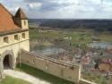 Riegersburg , Blick von der Burg auf den Ort Riegersburg in Richtung Südosten