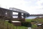 Brücke von der Jütland-Seite gesehen/Bridge seen from the Jutland side.