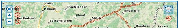 Karte mit EuroVelo Routen
