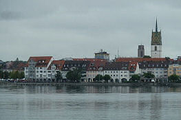 Blick zurück auf Friedrichshafen