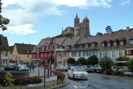 Breisach, Blick vom Marktplatz zum Münsterberg