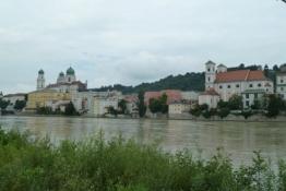 Blick zurück auf die Passauer Altstadt
