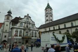 Rathaus in Wangen und St. Martin Kirche