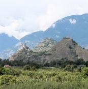 Sion, Schloss Tourbillon und Basilique de Valère