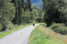 Auf dem Rhone-Radweg bei Saillon