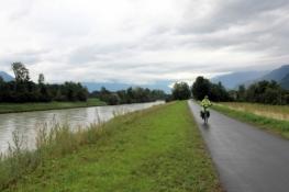 Am Rhone-Radweg bei Vionnaz