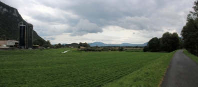 Am Rhone-Radweg bei Chessel