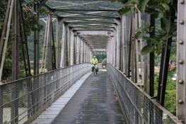 Rhone-Brücke kurz vor dem Genfer See