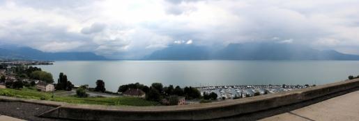 Genfer See aus den Hügeln bei Corseaux