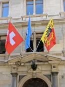 Genf, Flaggen am Rathaus