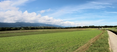 Rhone-Radweg vor Chancy