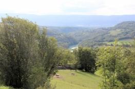 Arcine, Blick zurück ins Rhône-Tal