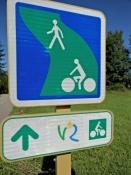 Wegweisung am Rhône-Radweg