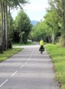 Auf dem Rhône-Radweg bei Ruffieux