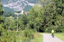Auf dem Rhône-Radweg bei Groslée