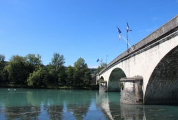 Rhône-Brücke in Sault-Brénaz