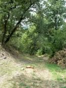 Schlechter Weg zwischen Ternay und Givors