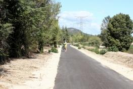 Neuer Radweg zwischen Piolenc und Caderousse