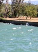 Vom Mistral aufgepeitschte Rhône