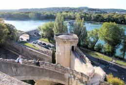 Avignon, Rhône vom Rocher des Doms