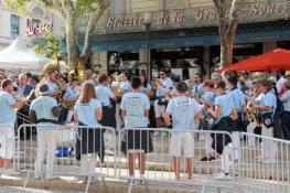 Nîmes, Brass-Band vor den Arènes