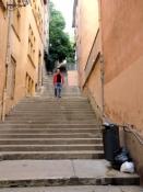 Vieux Lyon, lange Treppe zum Fourvière