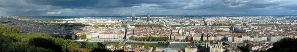 Blick vom Fourvière auf Lyon