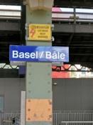 Basel, Ankunft im SNCF-Teil des Bahnhofs SBB