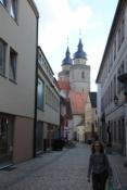 Bayreuth, Gasse an der Stadtkirche