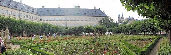 Bamberg, Rosengarten des Neuen Schlosses