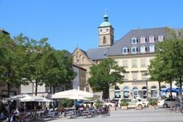 Schweinfurt, Marktplatz und Stadtkirche