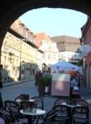 Volkach, Hauptstraße vom Unteren Tor