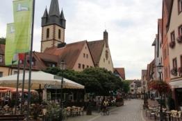 Gemünden, Marktplatz und Stadtkirche