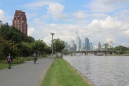 Frankfurt, Main Plaza und Bankentürme im Westend