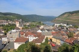 Blick auf Bingen von der Klopp-Burg