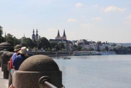 Koblenz, Moselufer vom Deutschen Eck