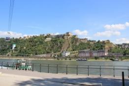 Koblenz, Festung Ehrenbreitstein vom Deutschen Eck