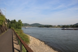 Rheinradweg hinter Remagen